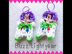 ▶ NEW Buzz Lightyear Rainbow Loom Charm/Figurine Tutorial [Part 1] - YouTube