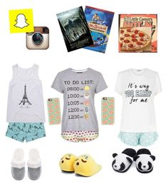 """Sleep over"" by marilyng341 ❤ liked on Polyvore featuring Victoria's Secret, New Look, Casetify, Topshop and Boohoo"