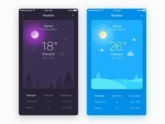 Weather App by Vinli #Design Popular #Dribbble #shots