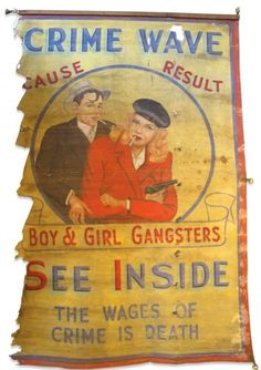Bonnie and Clyde Freakshow Banner.......from Anonymous Works