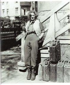 Lee Miller in Weimar, Germany, photo by David Scherman