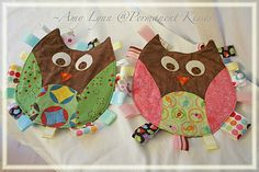 Permanent Kisses: Owl Taggies {Pinned Projects}
