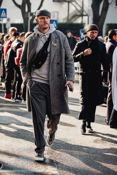 Fashion week men street style casual 66 new Ideas Street Style Fashion Week, Mens Fashion Week, Milan Fashion Weeks, Cool Street Fashion, Daily Fashion, Winter Fashion, Men's Fashion, Fashion Styles, British Mens Fashion