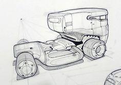 미래형 트레일러 스케치입니다 당장 전투에 투입될 것 같은 장갑차의 형태를 하고 있습니다 미래에는 트레일러도 굉장히 스포티한 디자인이 나올 것 같습니다