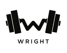 """Many """"Free weight"""" logo ideas are overdone, but this one bends to make a W for Wright. Creative and Inspired."""
