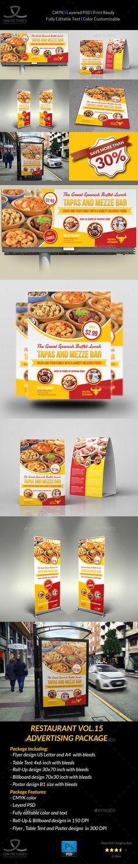#Restaurant Advertising Bundle Vol.15 - #Signage Print Templates Download here: https://graphicriver.net/item/restaurant-advertising-bundle-vol15/19691753?ref=alena994