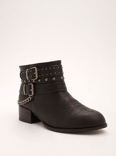 436b07a42a0 Plus Size Strappy Mixed Media Ankle Booties (Wide Width)