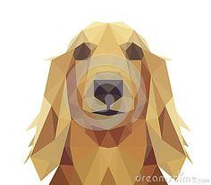 Low Poly Geometric Dog Design