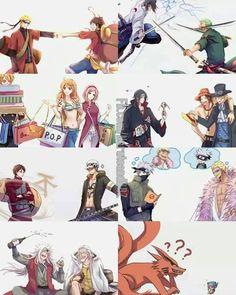 one piece x naruto luv these 2 anime's Manga Anime, Naruto Anime, Naruto Comic, Me Anime, Fanarts Anime, Otaku Anime, Naruto Vs, Manga Girl, Anime Girls