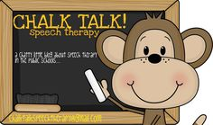 Chalk Talk Speech Therapy treatment tools website- recommended by Anne