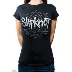 Slipknot Ladies Fashion Tee: Logo Star Wholesale Ref:SKTS32LB