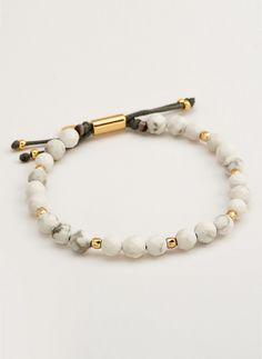 Gorjana Power Gemstone Howlite Beaded Bracelet For Calming