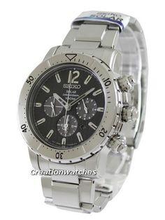 Seiko Solar Chronograph SSC223P1 SSC223P SSC223 Men's Watch Seiko Solar, Michael Kors Watch, Chronograph, Watches For Men, Accessories, Men's Watches, Watches Michael Kors, Jewelry Accessories