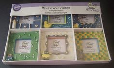 Wilton Mini Favor Picture Frames Baby Shower Gift Favors Photo 6 Count #WiltonAllForBaby