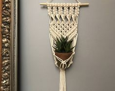 Macrame plant hanger, macrame plant holder, macrame wall decor