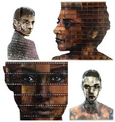We already showcased the work of British artist Nick Gentry through his series of portraits made with recycled floppy disks. Recycled Art Projects, Recycling Projects, Mixed Media Art, Fine Art Photography, Creative Art, Upcycle, Reuse, Art Gallery, Statue