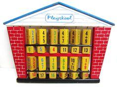 1960's Vintage Toy Wood Playskool Abacus Math by TimelessToyBox, $19.95