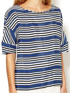 Lilou Striped Dolman Sleeve Top by Maje at Gilt