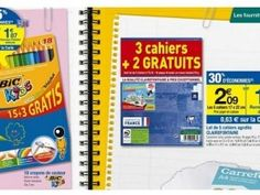 Cora propose des remboursements sur de nombreux produits pour la rentrée scolaire 2013.