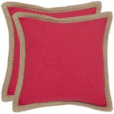 Fiber Cotton Throw Pillow (Set of 2) by Beachcrest Homes / $52.99 at All Modern / 18 x 18 / reviews say thin and rough