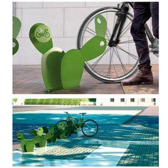 Autor: Max Almeida Obra: El nopal #DiseñoIndustrial #Rack #Bici