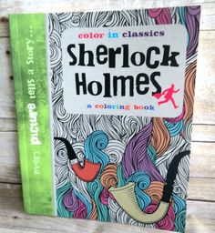 Sherlock Holmes Adult Coloring and Drawing Book #sponsored review