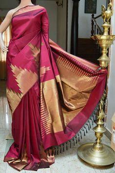 Pretty colour Indian Attire, Indian Outfits, Beautiful Saree, Beautiful Outfits, Phulkari Saree, Kanjivaram Sarees, Saree Dress, Sari, Latest Designer Sarees