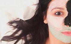 Eine #Gesichtsmaske war gestern! Frau trägt für eine makellose Haut bis zu vier verschiedene Beauty-Elixiere auf – das Ganze nennt sich: #Multimasking
