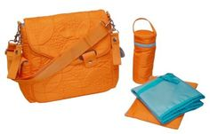 Kalencom Ozz Quilted Messenger Bag, Morrocco Orange