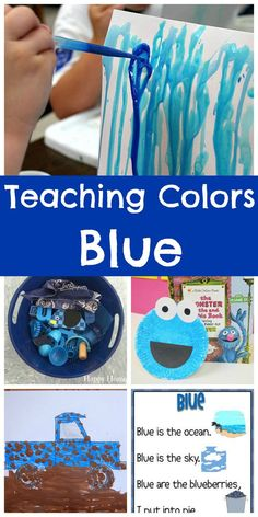 Want to focus on one color- how about  BLUE? A round up of crafts, songs, literacy activities, matching and more- all cute ideas for preschoolers!