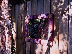 create a cement frame...I love Fairegarden blog! Such creative stories.