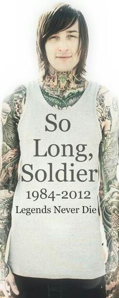 I feel sad. because i'm never going to be able to hug him. RIP Mitch. So long soldier