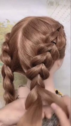 Braided hairstyle for long hair video tutorial simple and beautiful Easy Hairstyles For Long Hair, Braids For Long Hair, Pretty Hairstyles, Box Braids, Simple Hairstyle Video, Easy Braided Hairstyles, Wedding Hairstyles, Braided Buns, Ghana Braids