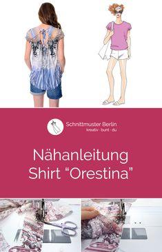 """Nähanleitung für das Shirt """"Orestina"""""""