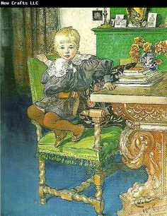 Carl Larsson gosta, love this picture and I want chairs just like this in my dining room!