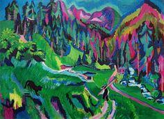 Bild:  Ernst Ludwig Kirchner - Landschaft Sertigtal