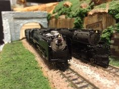 N scale kato Fef-3 844 and Athearn chalenger