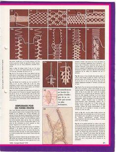 Romanian Point Lace (Macramé Crochet Lace) course from Anna Burda needlecraft magazine, January, 1990 issue.
