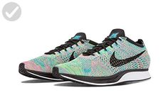 brand new 69830 a0683 ... Shoes Review. See more. Nike Men s Flyknit Racer, GREEN STRIKE BLACK-BLUE  LAGOON, 9 M US