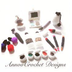 Amigurumi Makeup Set By AnnooCrochet Designs