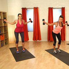 10-Minute Bikini Tone-Up: Arms and Shoulders.  Works a lot of muscles in a short amount of time - I like it!