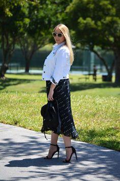 Fashion | Perfect Pleated Polka Dot | The MIAMI Rose #OOTD