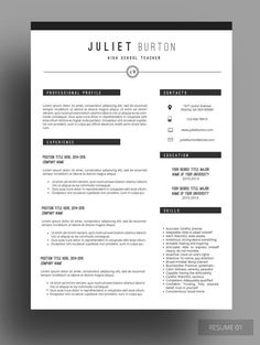 Resume Template 1 3 Page Resume Cover Letter Reference Page
