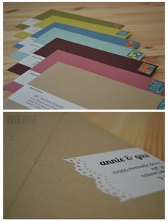 DIY Photostrip Magnet Save the Dates + Free Templates — Annie Franceschi Simple Wedding Invitations, Wedding Stationary, Envelope Labels, Diy Wedding Projects, Paper Cards, Paper Decorations, Scrapbook Paper, Save The Date, Mail Art