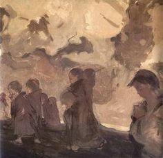 Witold Wojtkiewicz - La Cruzada de los niños (1909)