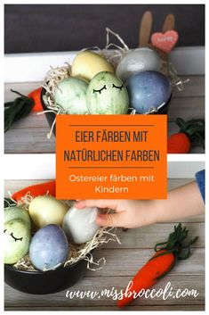 eggs # dye with natural colors from the # kitchen. Easter Egg Dye, House Of Turquoise, Dyi, Colours, Natural Colors, Broccoli, Milan, Party, Easter