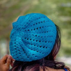easy crochet shell stitch slouchy hat beanie free pattern beginner friendly