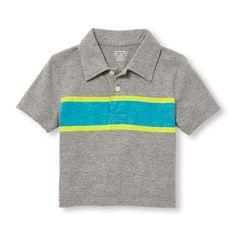 Toddler Boys Short Sleeve Chest Stripe Jersey Polo