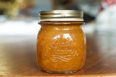 Honey sweetened peach vanilla jam