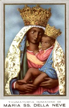 della Neve A holy card of the miraculous image of Our Lady of Snow venerated in Torre Annunziata near Naples, Italy. The image was crowned by the Vatican Chapter in Afro Men, Images Of Christ, Black Jesus, Madonna, Black Mother, Mary Magdalene, Naples Italy, Black Image, John The Baptist
